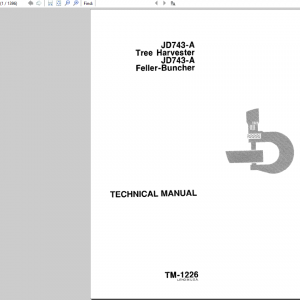 John Deere 743a Harvester & Feller-buncher Service Manual Tm-1226