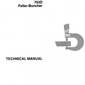 John Deere 793d Feller Buncher Service Manual Tm-1416