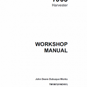 John Deere 1063 Harvester Service Manual Tm-1997