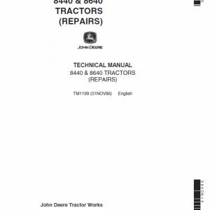 John Deere 8440, 8460 Tractor Service Manual Tm-1199