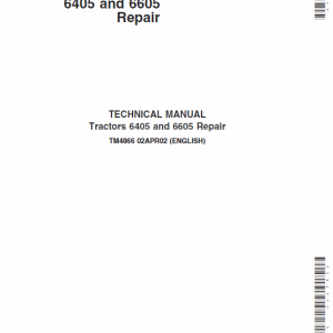 John Deere 6405 and 6605 Tractor Service Manual