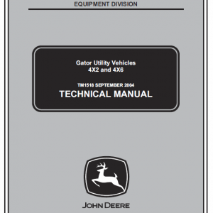 John Deere Gator 4x2 and 4x6 Service ManualJohn Deere Gator 4x2 and 4x6 Service Manual