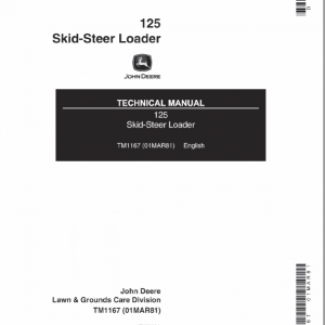 John Deere 125 Skid-Steer Loader Service Manual