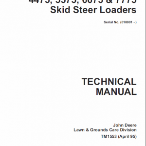 John Deere 4475, 5575, 6675, 7775 Skid-Steer Loader Service Manual