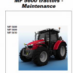 Massey Ferguson 5608, 5609, 5610 Tractors Service Workshop Manual