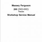 Massey Ferguson Mf 268 (2wd/4wd) Tractor Service Manual