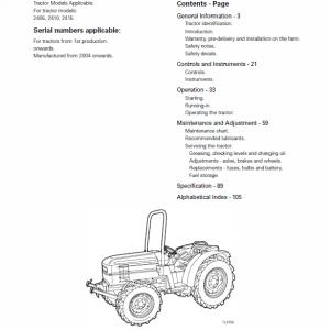 Massey Ferguson 2405, 2410, 2415 Tractor Service Manual