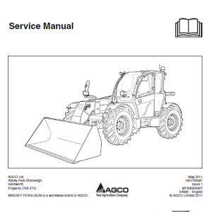Massey Ferguson Mf 9306, 9407 (t)(h) Telescopic Handler Service Manual