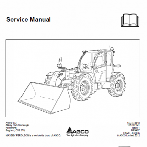 Massey Ferguson Mf 9407ts, 9407s Telescopic Handler Service Manual