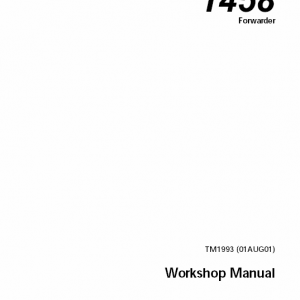 John Deere 1458 Forwarder Service Manual Tm-1993