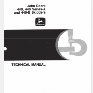 John Deere 440, 440a, 440b Skidder Service Manual Tm-1009