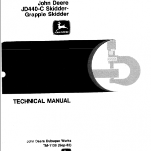 John Deere 440c Skidder Service Manual Tm-1138