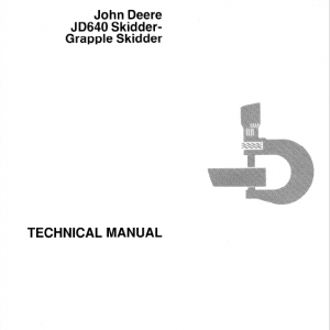 John Deere 640 Skidder Service Manual TM-1124