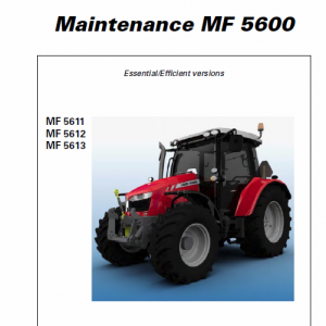 Massey Ferguson 5611, 5612, 5613 Tractors Operating And Maintenance Manual