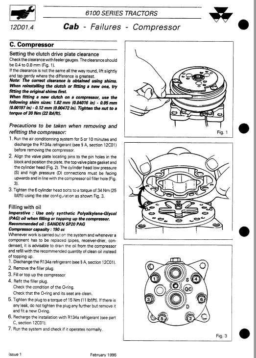Massey Ferguson 6110, 6120, 6130, 6140, 6150 Tractor Service Manual