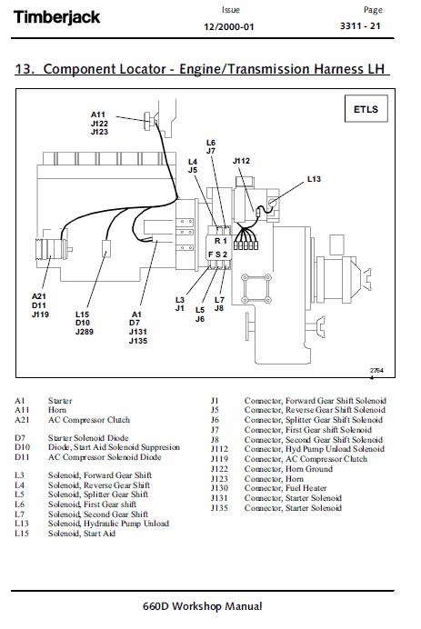 John Deere 660d Skidder Service Manual Tm-1124