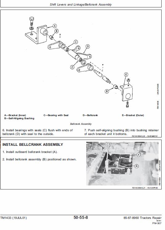 John Deere 8560, 8760, 8960 Tractor Service Manual Tm-1433