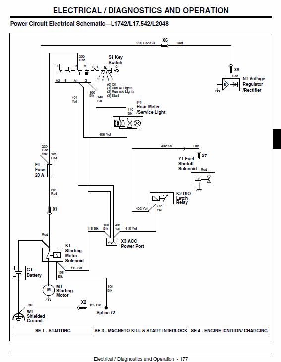 [SCHEMATICS_4FR]  John Deere L1642, L17.542, L2048, L2548 Scotts Tractor Manual TM-1949 | Scotts L1742 Wiring Diagram |  | The Repair Manual