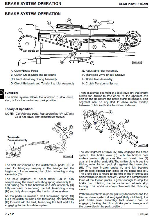 John Deere S1642, S1742, S2046, S2546 Scotts Tractor Manual Tm-1776