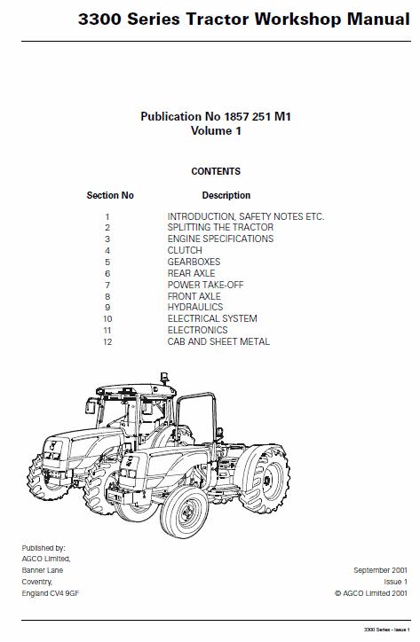 Massey Ferguson 3340, 3350, 3355 Tractor Service Manual