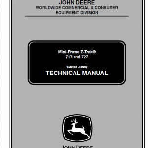 John Deere 717, 727 Ztrak Technical Service Manual