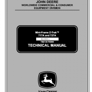 John Deere 717a, 727a Ztrak Technical Service Manual