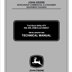 John Deere ATV 500, ATV 650, ATV 650EX, ATV 650EXT Trail Buck Utility Manual