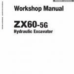 Hitachi Zx60-5g Excavator Service Manual