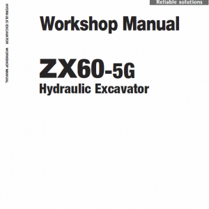 Hitachi Zx60-5g Excavator Service Manual
