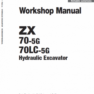 Hitachi Zx70-5g And Zx70lc-5g Excavator Service Manual