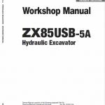 Hitachi ZX85USB-5A Excavator Service Manual