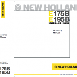 New Holland E175B and E195B Excavator Service Manual