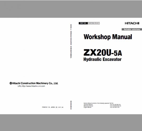 Hitachi Zx20u-5a And Zx20u-5b Excavator Service Manual