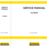 New Holland E225bsr Excavator Service Manual