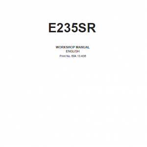 New Holland E235SR Excavator Service Manual