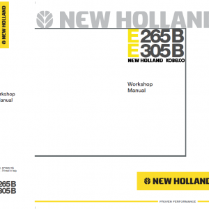New Holland E265B and E305B Excavator Service Manual