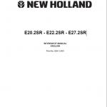 New Holland E20.2sr, E22.2sr And E27.2sr Mini Excavator Manual