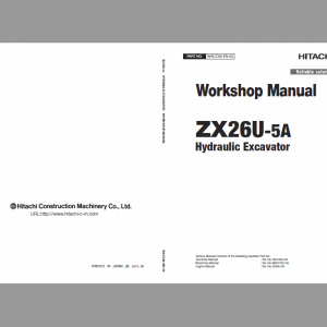 Hitachi ZX26U-5A Excavator Service Manual