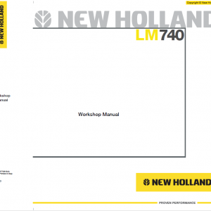 New Holland LM740 Telehandlers Service Manual