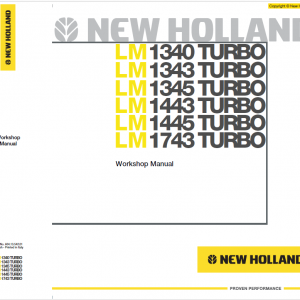 New Holland LM1745 Telehandlers Service Manual
