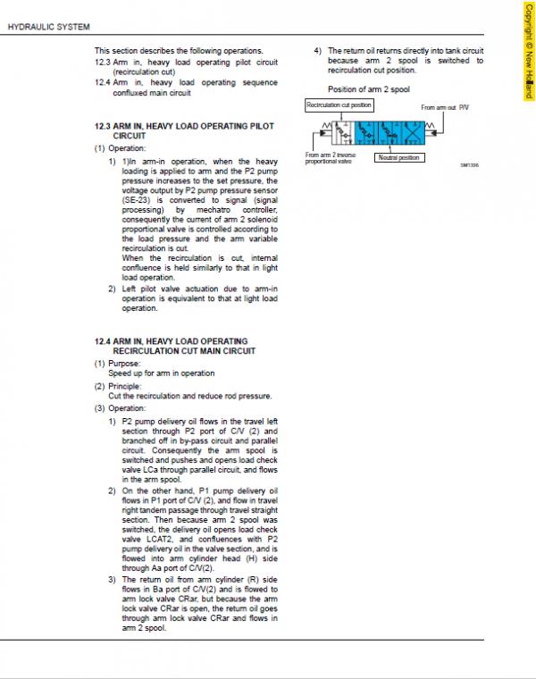 New Holland E175b And E195b Excavator Service Manual