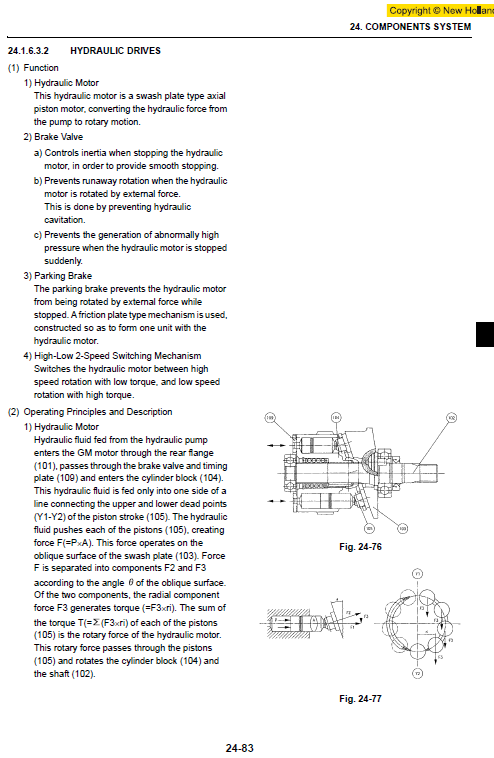 New Holland E135bsr Excavator Service Manual