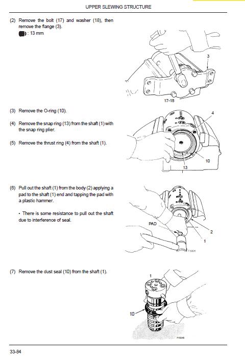 New Holland E9sr Mini Excavator Service Manual