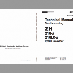 Hitachi Zh210-a And Zh210lc-a Excavator Service Manual