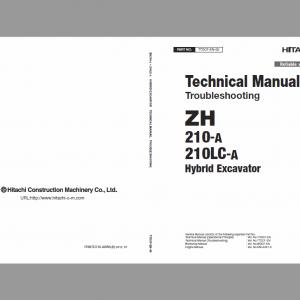 Hitachi Zh210-a And Zh210lc-a Excavator Service Manual