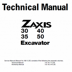 Hitachi Zx30, Zx35, Zx40 And Zx50 Zaxis Excavator Service Manual