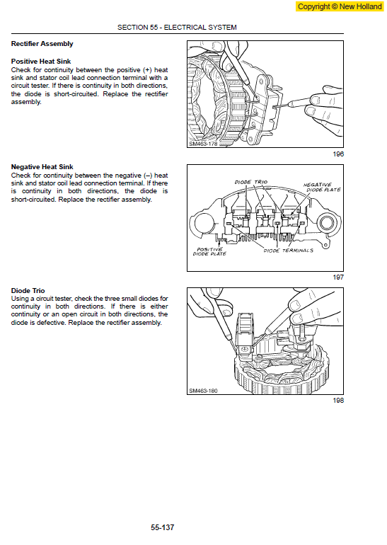 New Holland Ls140 And Ls150 Skidsteer Service Manual