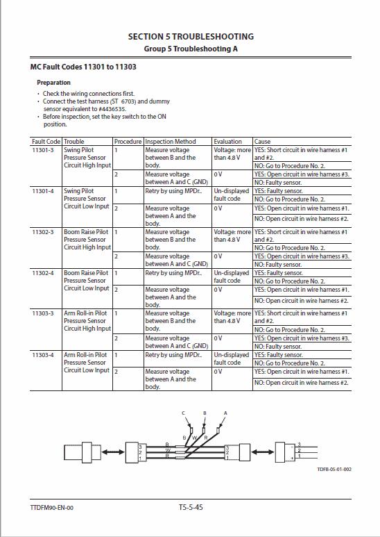 Hitachi ZH200-5A and ZH200LC-5A Excavator Service Manual