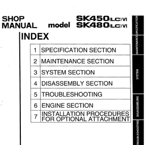 Kobelco Sk450lc-6 And Sk480lc-6 Excavator Service Manual