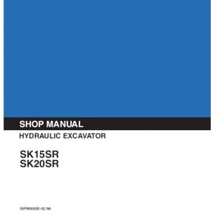 Kobelco Sk15sr And Sk20sr Excavator Service Manual